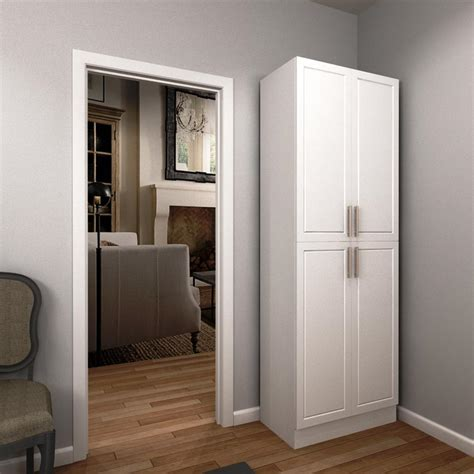 Enclosed Closet Systems by Modifi 84 In H X 30 In W X 15 In D Melamine