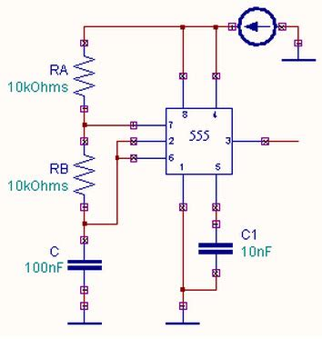 Astable Multivibrator Using Timer Working