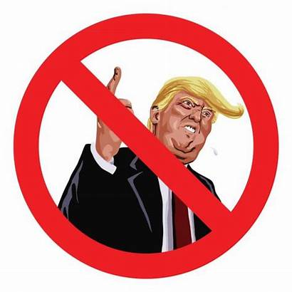 Trump Vector Sign Anti Illustration Icon Cartoon