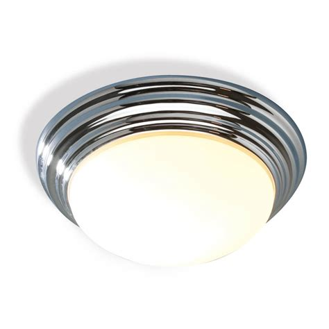 traditional bathroom flush ceiling light  polished