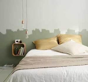 tete de lit deco en peinture naturelle pour la chambre With deco tete de lit en peinture