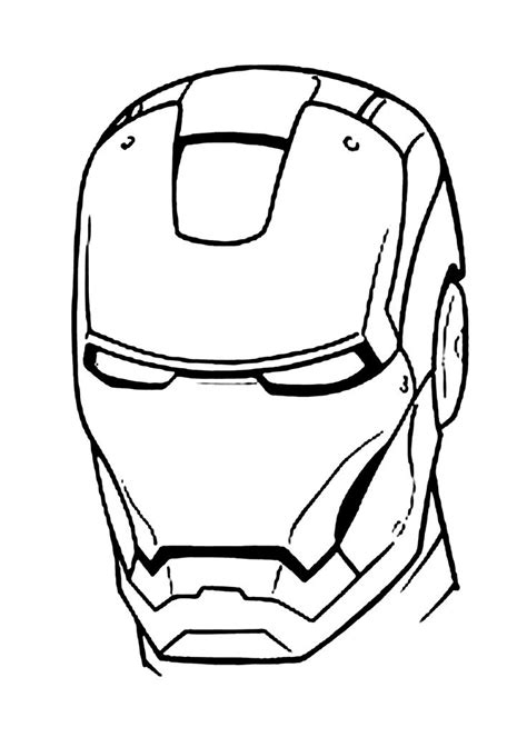 iron man mask coloring pages  kids printable
