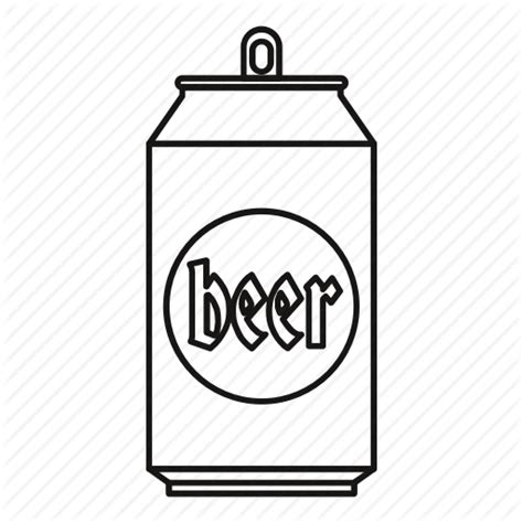 Aluminum, beer, blank, can, line, metal, outline icon