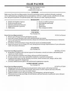 best guest service representative resume example livecareer With guest services resume