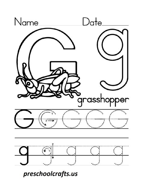 letter g worksheets for preschool preschool crafts 993 | letter g worksheets for preschool