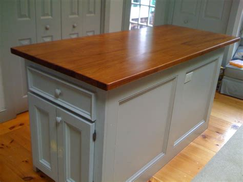 handmade custom kitchen island reclaimed wood top  cape