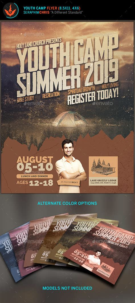 youth camp flyer template  seraphimchris graphicriver