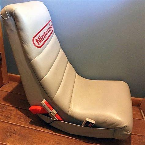 Vintage Nintendo Gray Videogames Low Rocker Gaming Chair
