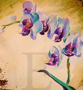 ORCHIDS WATERCOLOR painting 14x19