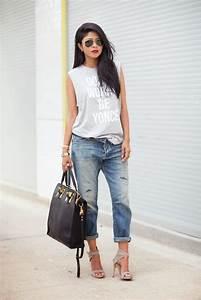 15 Stylish Ways To Wear Boyfriend Jeans With Heels ...