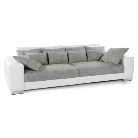 canap droit 2 places grand canapé droit 39 quartz 39 blanc gris 4 places achat