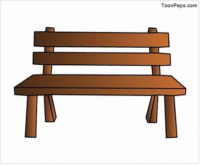 Bench Clipart Furniture Wooden Clip Wood Cartoon