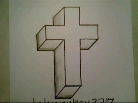 draw   cross crucifix easy optical illusion