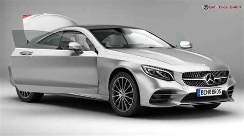 Mercedes S Class Coupe Amg Line 2018 3d Model Buy