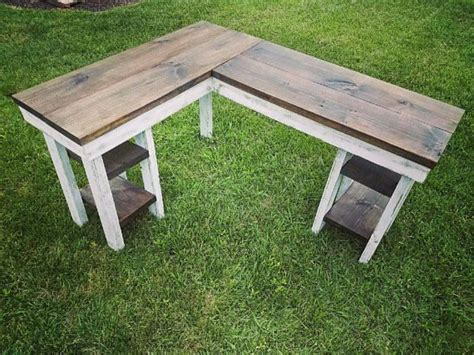 rustic  shape desk   beautiful farmhouse wood top