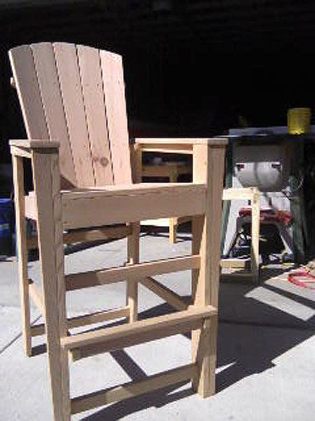 bar height adirondack chairs from scrap wood all
