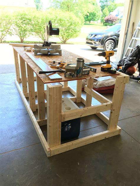 built  mobile workbench   garage mobile workbench workbench plans diy garage
