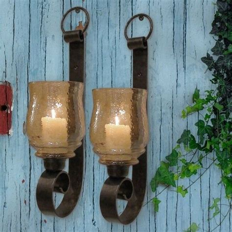 Iron Candle Sconce by St 2 Tuscan Farmhouse Antique Iron Wall Sconce Candle