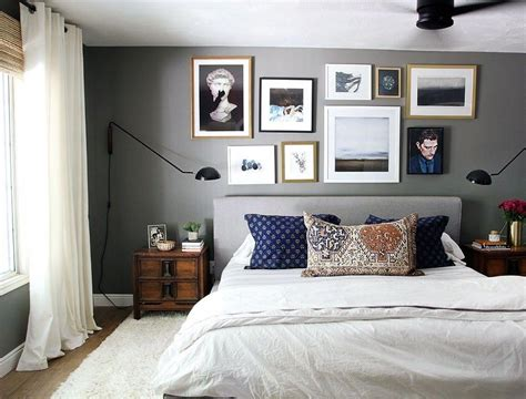 a modern eclectic master bedroom new year new room