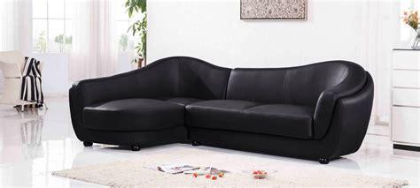 canap 233 d angle gauche cuir noir colorado
