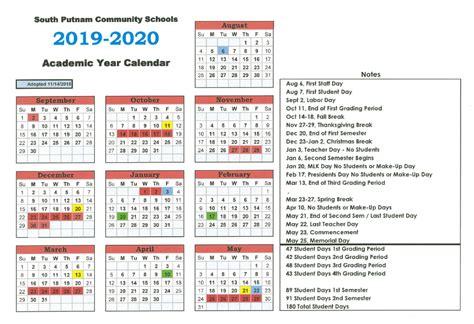 corporation calendar south putnam community school corporation