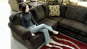 Ashley vista chocolate 3 piece sectional youtube for Ashley furniture vista chocolate sofa sectional
