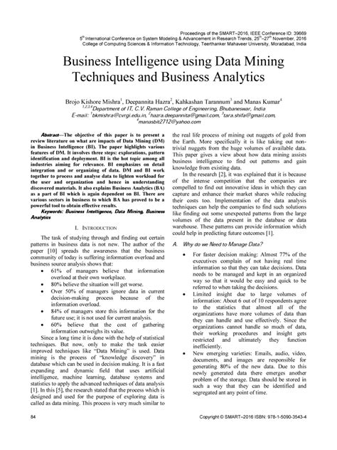 (PDF) Business Intelligence using Data Mining techniques