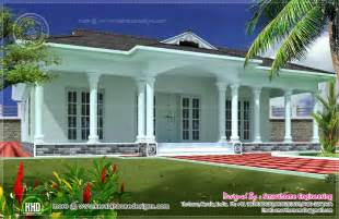 one floor house 1600 sq ft single story 3 bed room villa kerala home design and floor plans
