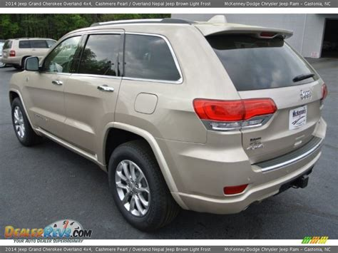 light brown jeep 2014 jeep grand cherokee overland 4x4 cashmere pearl