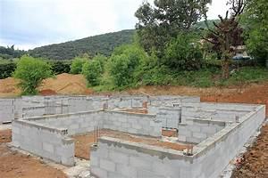 etape d39une construction de maison habitat sud est With soubassement d une maison