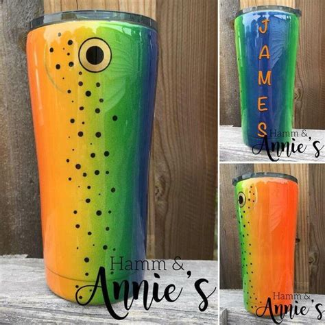 oz stainless double wall trout lure tumbler tumbler