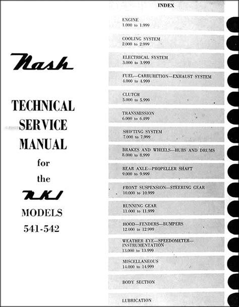 Nash Metropolitan Repair Shop Manual Original