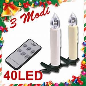Led Lichterkette Kabellos : 40 led lichterkette kerzen kabellos weihnachtskerzen christbaumschmuck ebay ~ Yasmunasinghe.com Haus und Dekorationen