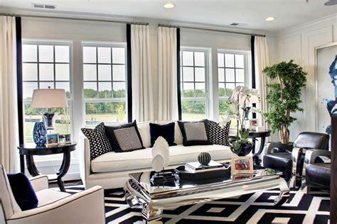 black  white living room decoration