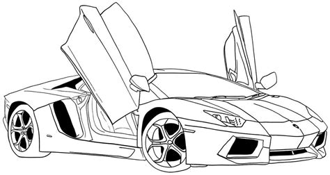 Coloring Pages For Boys Cars Printable Coloring Home