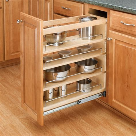 Cabinetorganizers  Adjustable Wood Pullout Organizers