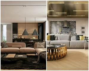 Decoration D Interieur Idee : id e d co appartement avec de la texture en deux exemples ~ Melissatoandfro.com Idées de Décoration