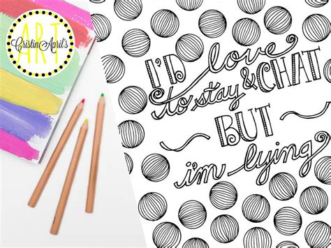 id love  stay chat  im lying printable adult coloring book page  adult coloring