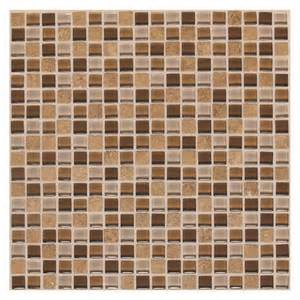 delfino terra blend glass mosaic wall tile 12 quot x 12 quot at