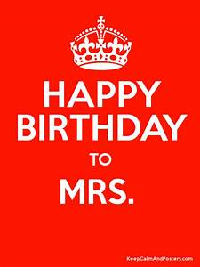 HAPPY BIRTHDAY MRS. SPASMOD