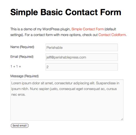 Best 20 Contact Forms Plugins For Wordpress Geek News