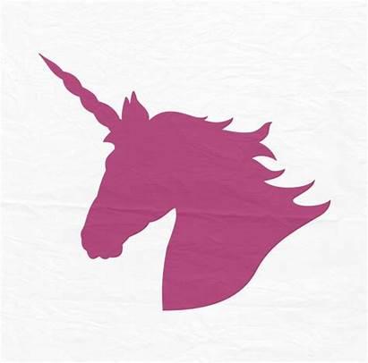 Unicorn Svg Head Clipart Cricut Cut Silhouette