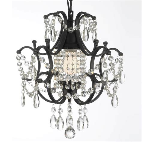 Small Black Chandelier by Versailles 1 Light Black Mini Chandelier With T40