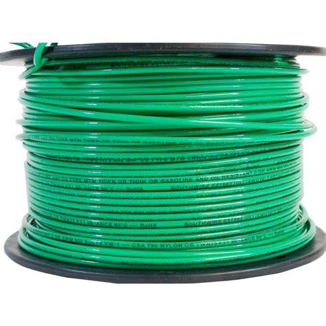 southwire 500 ft 14 green stranded cu thhn wire 22959158 the home depot