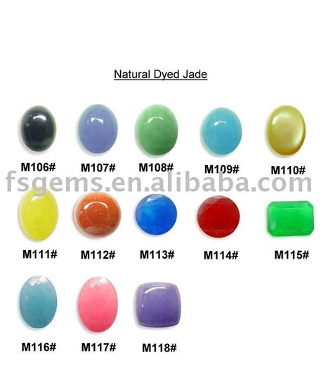 dyed jade with different colors for silver jewelry