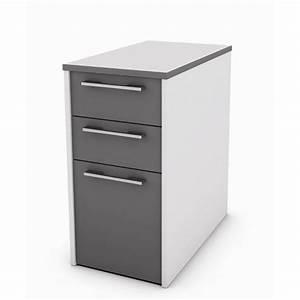 Caisson Bureau Noir : caisson de bureau a tiroir ~ Teatrodelosmanantiales.com Idées de Décoration