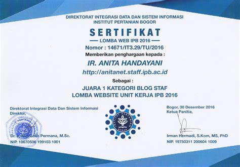 contoh sertifikat   dijadikan referensi sebelum