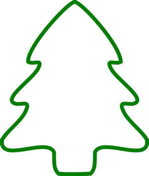 green christmas tree outline clip art at clker com