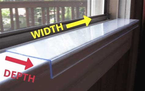 Window Sill Protector by Custom Width And Depth Sill Shield