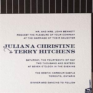 charmed toronto bella figura With letterpress wedding invitations toronto